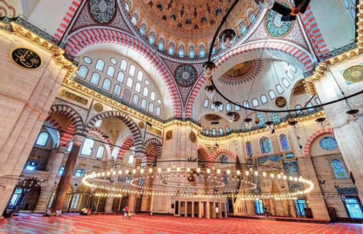 Внутреннее убранство мечети Сулеймание фото