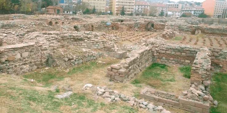 руины римских бань в Анкаре