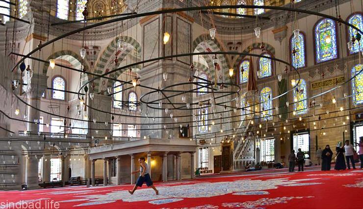 Картинка с мечетью Фатих в Стамбуле