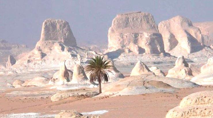 Фото белой пустыни в Египте