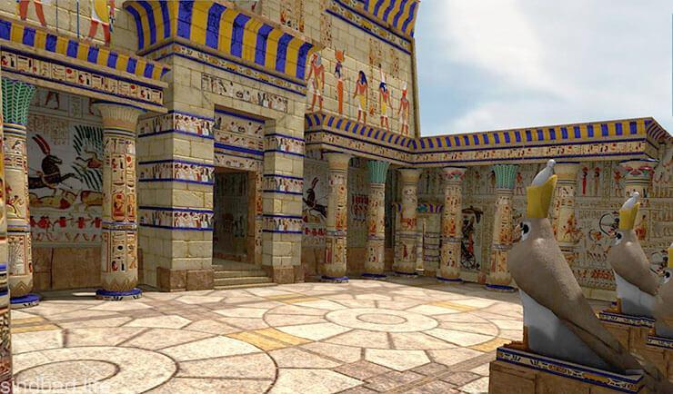 Картинка с храмом бога Гора