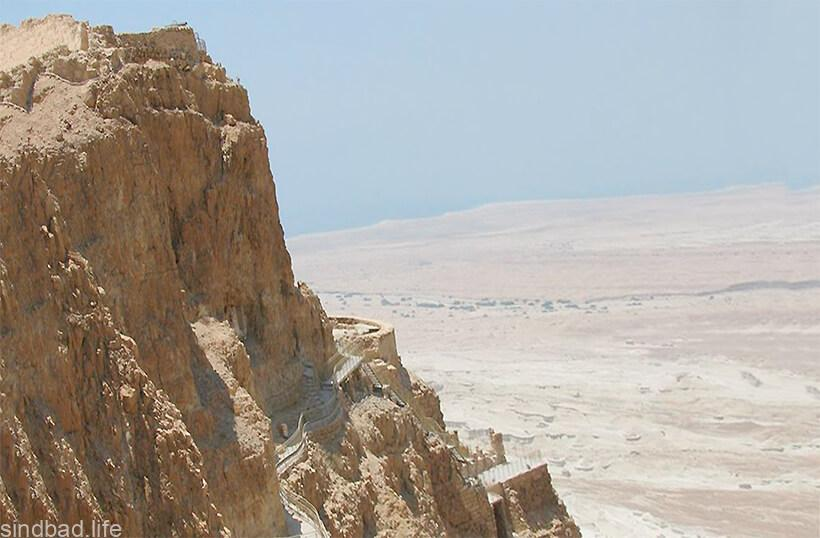 Древняя крепость Масада фото