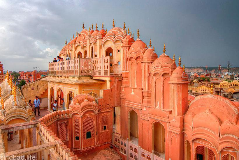 Дворец Хава-Махал в Джайпуре фото